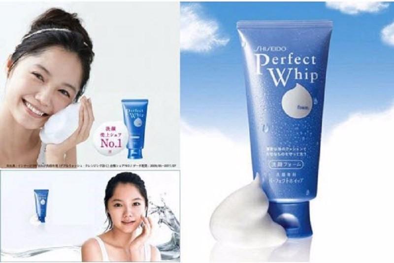 Sữa rửa mặt Shiseido Perfect Whip màu xanh- SHISEIDO Nhật Bản - 120g 3