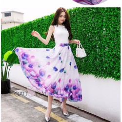 Chân Váy Chiffon Maxi Hoa Xinh 375