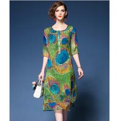 Đầm Suông Họa Tiết  D47 - Hàng Nhập Cao Cấp