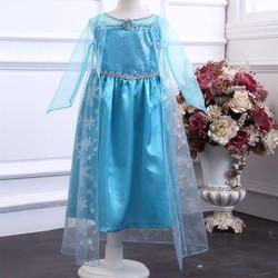 Đầm công chúa Elsa tay xanh