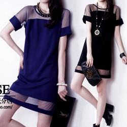 Đầm suông với thiết kế đơn giãn phối lưới đỉnh cao của phong cách-193