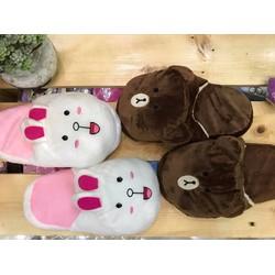 Cặp dép mang trong nhà Thỏ Conny và Gấu Brown