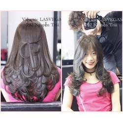 Trọn gói làm tóc đẹp đẳng cấp Cắt Gội Uốn Nhuộm Sấy tạo kiểu  Tặng thẻ hấp 01 năm  Viện tóc Lasvegas