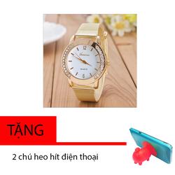 Đồng hồ nữ đính hột Geneva G4 dây lưới vàng