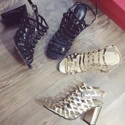 Giày sandal lưới cao gót đẹp cá tính