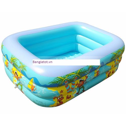 Bể bơi 3 tầng 150x100x45 cm - FREE SHIP