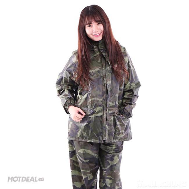 Bộ Áo Mưa Lính Vải Dù Cao Cấp Chống Thấm size 3XL 4