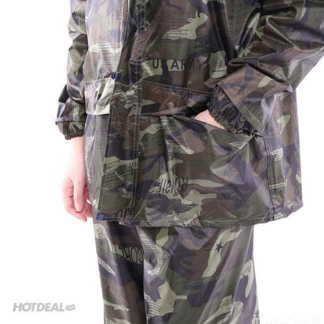 Bộ Áo Mưa Lính Vải Dù Cao Cấp Chống Thấm size 3XL 6