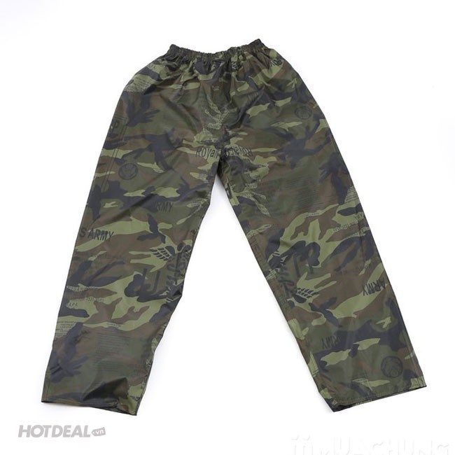 Bộ Áo Mưa Lính Vải Dù Cao Cấp Chống Thấm size 3XL 9