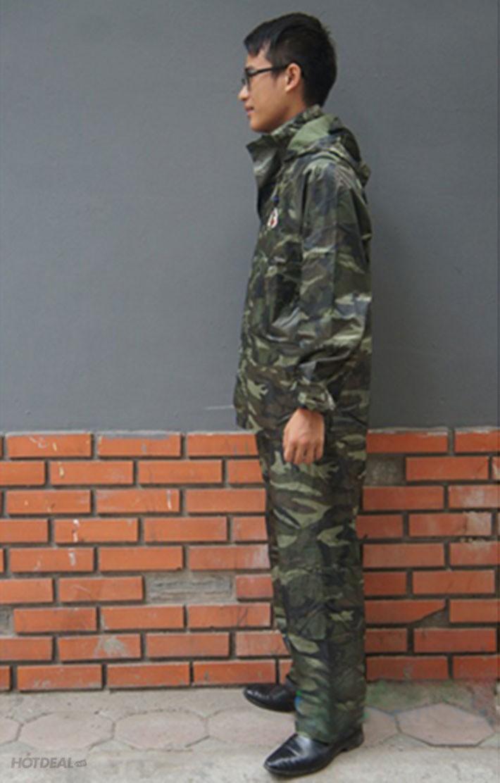 Bộ Áo Mưa Lính Vải Dù Cao Cấp Chống Thấm size 3XL 5