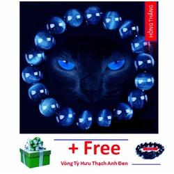 Vòng tay đá mắt mèo xanh nước biển
