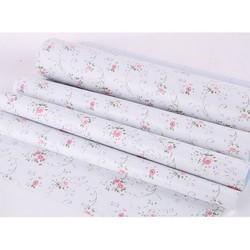 Cuộn 5M decal giấy dán tường có sẵn keo - HỒNG BI DÂY TRẮNG