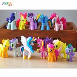 Set Mô Hình 12 My little Pony Size 5 Cm