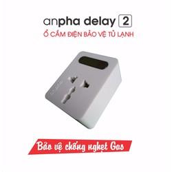 Ổ cắm điện bảo vệ tủ lạnh Anpha Delay 2