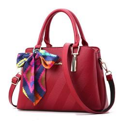 Túi xách nữ hàng nhập da siêu đẹp - màu đỏ bocdo