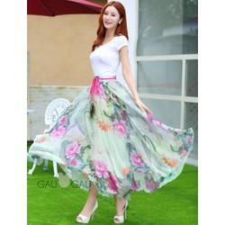 Váy Maxi Chấm Gót Đẹp Mùa Hè 377