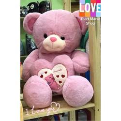 Gấu bông ôm trái tim 90cm