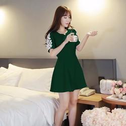 Đầm xòe tay ren