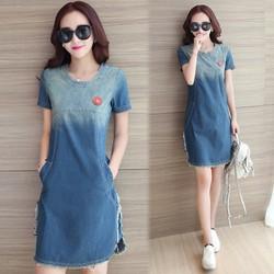 Hàng Nhập Đầm jean nữ thời trang thiết kế mới hiện đại phong cách Hàn