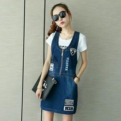 Đầm yếm jean