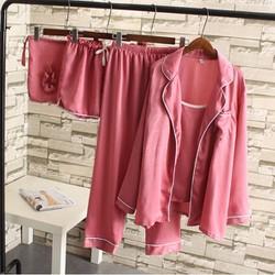 Bộ quần áo nữ mặc nhà 7 chi tiết cho người mập - M0451