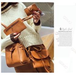 Set 4 túi xách da thời trang của nữ Nâu