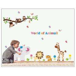 Decal dán tường vườn thú nhỏ 4