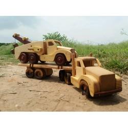 Combo xe container và máy cẩu