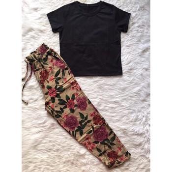 Sét áo con + quần hoa dât rút
