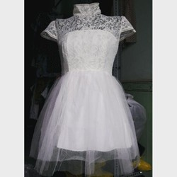 Đầm xòe ren công chúa phối lưới hàng thiết kế