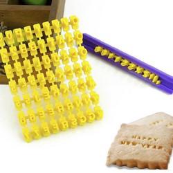 Bộ chữ cái ấn hình cookies fondant