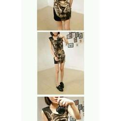 Đầm body in hổ