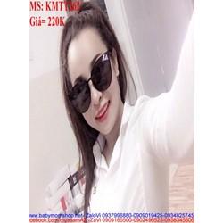 Kính mát nữ đen cá tính thiết kế thời trang phong cách KMTT262