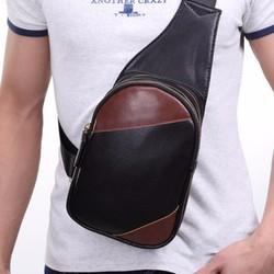 Túi Đeo Ngực Da Phối Màu Thời Trang BA265