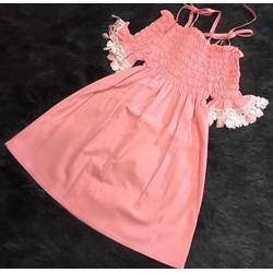 Đầm xô boi chất mát hở vai tay xoè cực xinh