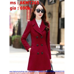 Áo khoác dạ nữ cổ bẻ sang trọng và thời trang cho bạn gái AKMT265