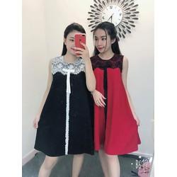 Váy thiết kế nữ phối ren