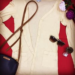 Áo khoác len mỏng, form dài #SL000020
