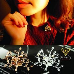 Cài áo Cây Ngọc Trai Korea