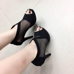 giày cao gót hở mũi sang trọng