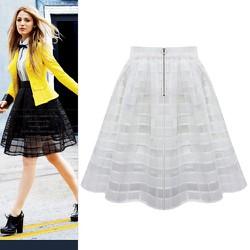Váy xòe phối lưới ngoài caro mẫu 2015 lạ siêu đẹp-209