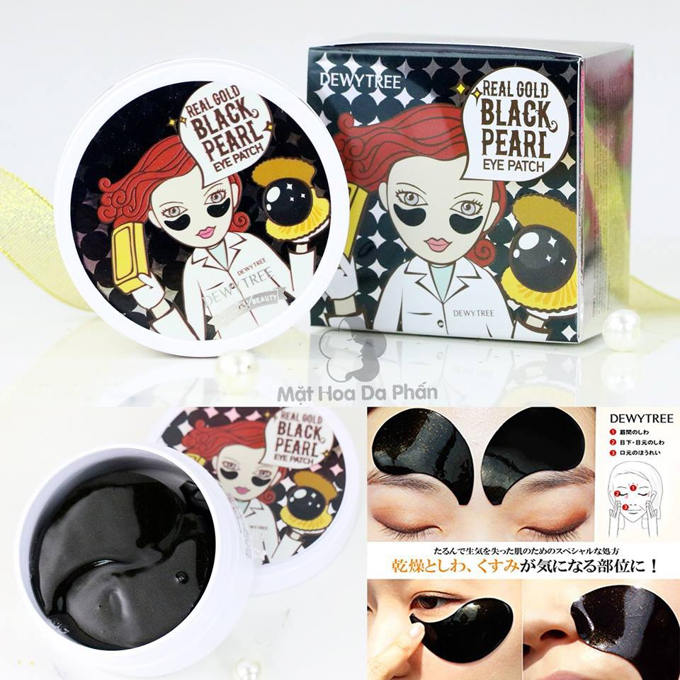 Mặt Nạ Mắt Dewy Tree Real Gold Black Pearl Eye Patch 2