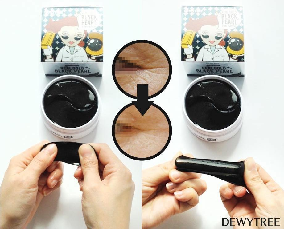 Mặt Nạ Mắt Dewy Tree Real Gold Black Pearl Eye Patch 1