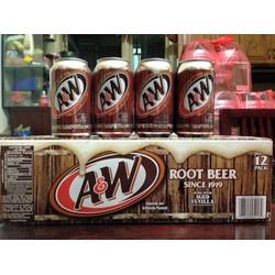 Nước ngọt xá xị Mỹ AW - thùng 12 lon