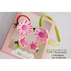 Set quà tặng handmade hoa kanzashi cho bé