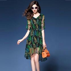 Đầm xòe nữ họa tiết cực xinh DX688