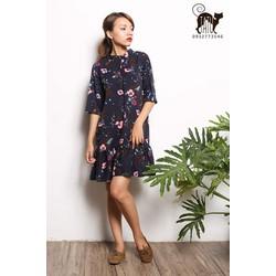 Đầm suông vintage hoa nhí