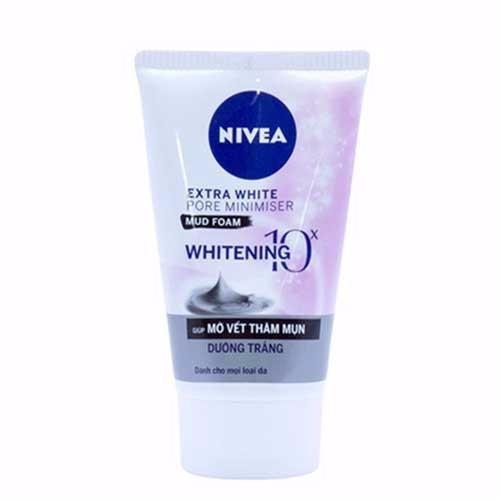 Sữa rửa mặt bùn khoáng mờ vết thâm dưỡng trắng  Nivea Extra White 50g