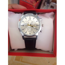 Sale off Đồng hồ dây da nam nữ Geneva đen thời trang, giá rẻ Cần Thơ