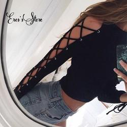 áo pull đen đan dây tay